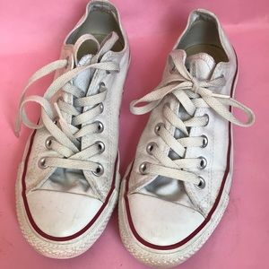 White All Star Converse lace up sneakers